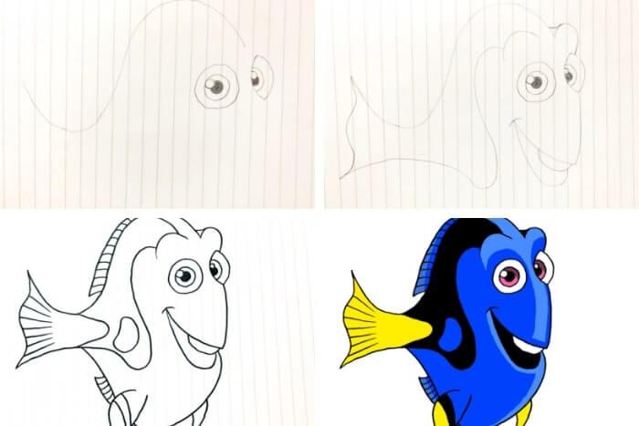 ピクサー映画のキャラクターの描き方<ドリー>