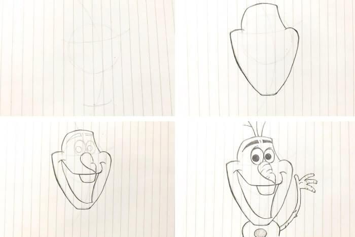ディズニー映画のキャラクターの描き方<オラフ>